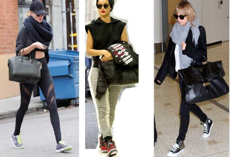 Кроссовки на платформе с чем носить