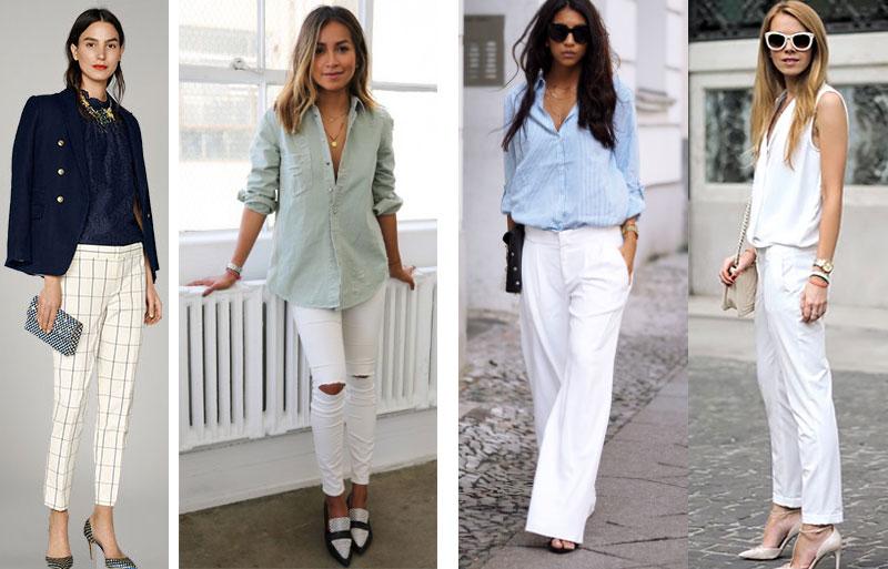 белые брюки женские с чем носить