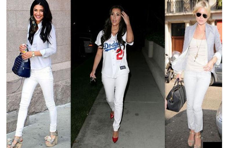 с чем носить белые брюки женские фото