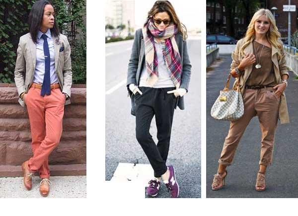 с чем носить брюки чинос женские