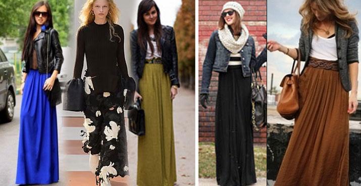 с чем носить юбку в пол весной